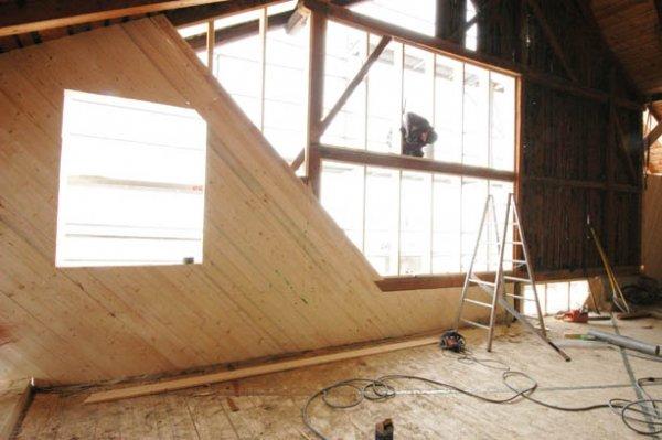 Baustelle: Ausbau im Tennen / 3. und 4. OG