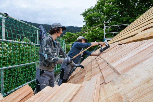 Schloss Trautson Dacharbeiten